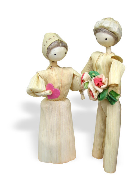 slovak wedding: old slovak toy from dry maize leafs