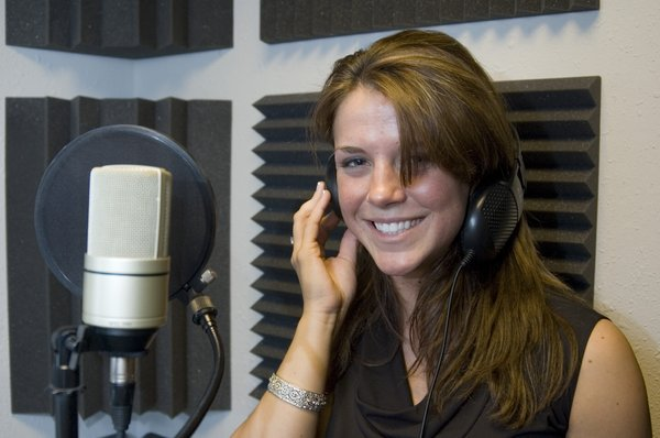 Singer 3: Amy singing in the recording studio