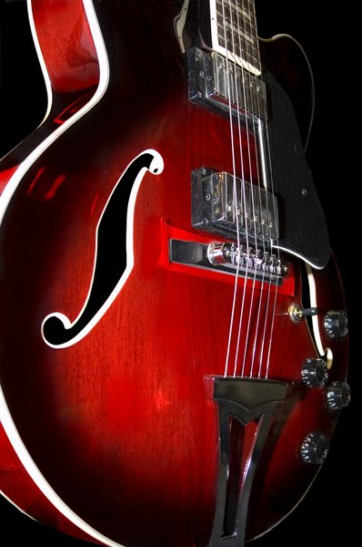 Guitars: Electric guitars closeup