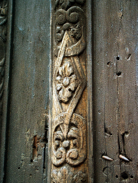 Renaissance doors decoration: Detail from renaissance doors decoration in Wroclaw (Poland)