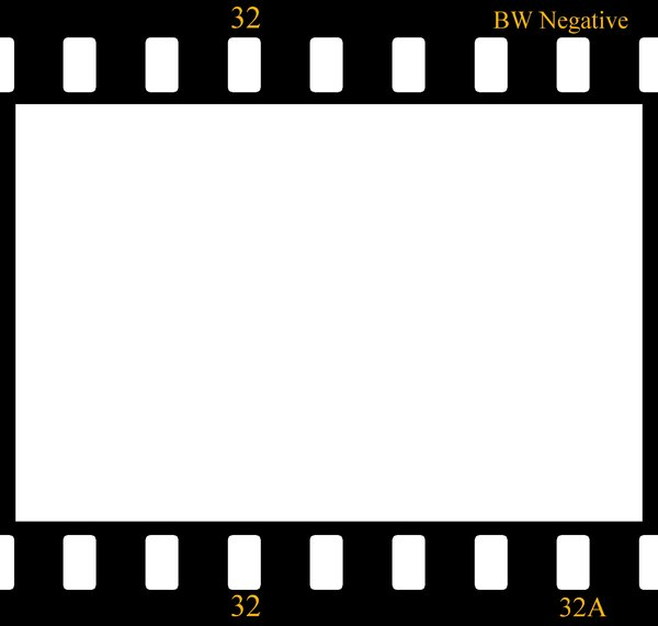 Negative film strip: One frame from negative photographic film