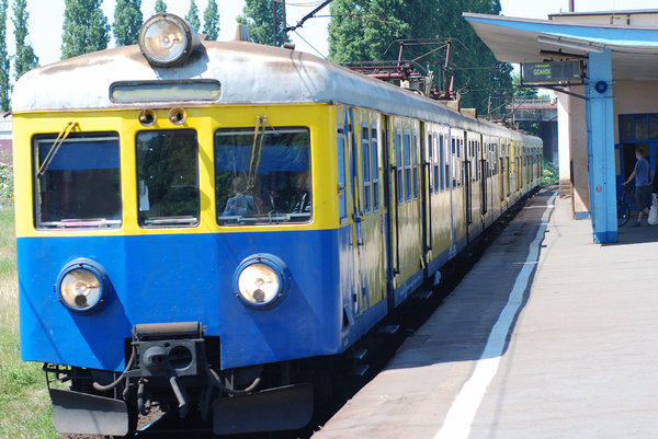 Train - shuttle service 2: City train in Poland