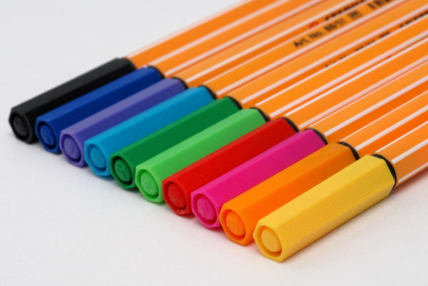 Recorders set 4: Pen which has its own ink-source, and usually a tip made of a porous material, such as felt or nylon.