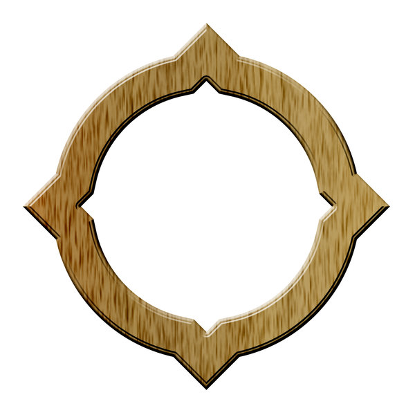 Circle decorative frame 1: Modern image frame