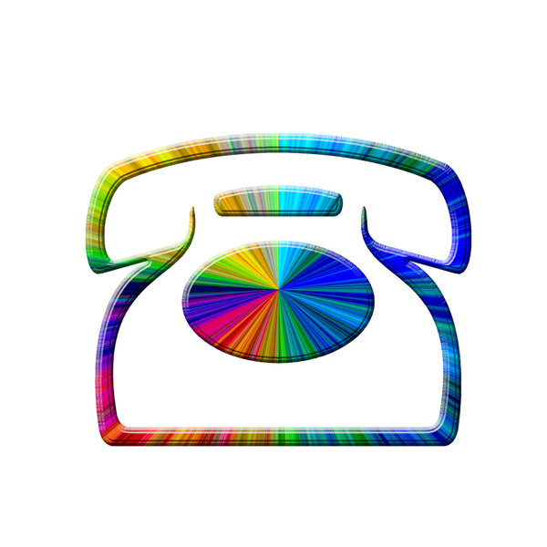 Telephone icon 5: Phone pictogram