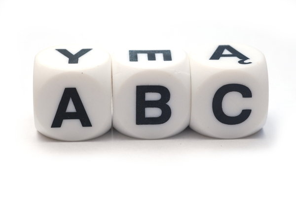 ABC on the dices 2: Cubes with letters