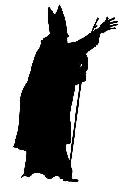 A silhouette of the pope 1: John Paul II