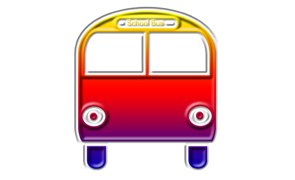 School bus pictogram 1: A school bus is a bus used to transport children and adolescents to and from school and school events