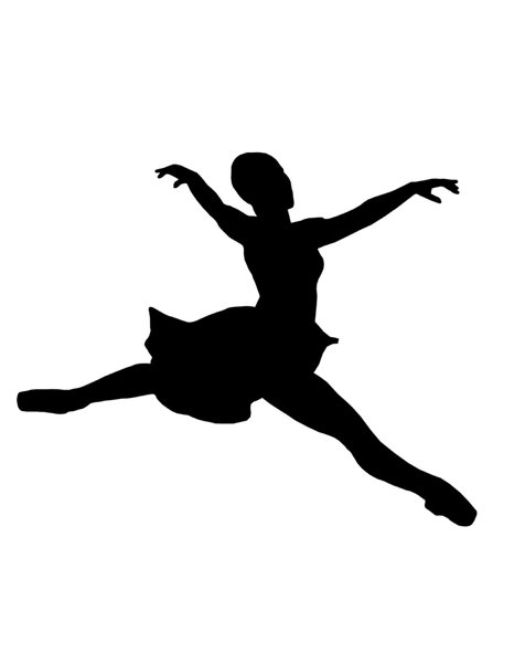Ballet 1: Silhouette of dancing girl