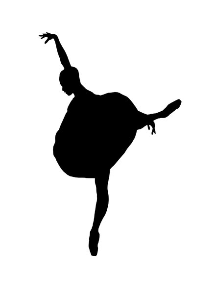 Ballet 5: Silhouette of dancing girl
