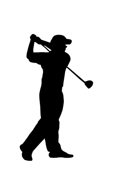 Golf player 2: Silhouette of golfer