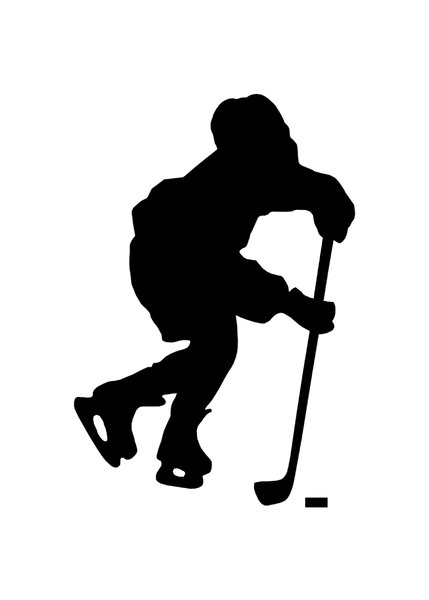 Hockey 1: Silhouette of player