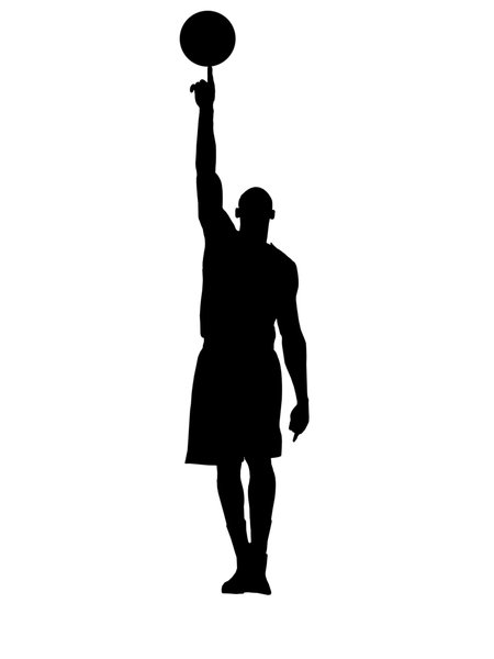Basketball player 3: Silhouette of basketball player