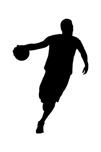 Basketball player 5: Silhouette of basketball player