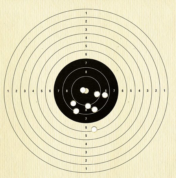 Target for shooter 2: Air pistol target