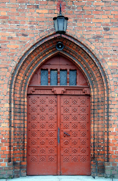 Neogothic church gate: Church doors