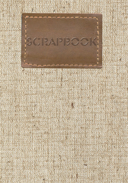 Cover of scrapbook 1: Linen cover with leather element