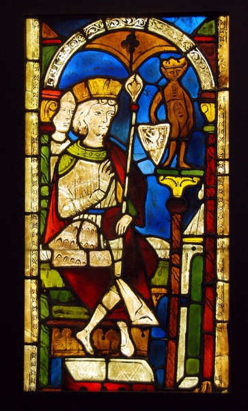 Historical stained glass 2: Window with painted glass