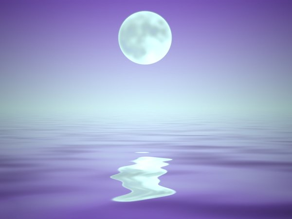 Watery Background With Moon: Water and sky background, with a full moon, useful for many things like image manipulations, wallpapers (personal only), desktops, backdrops, etc.