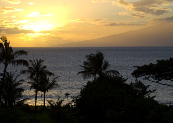 Hawaiian Sunset: Shots taken on my honeymoon.