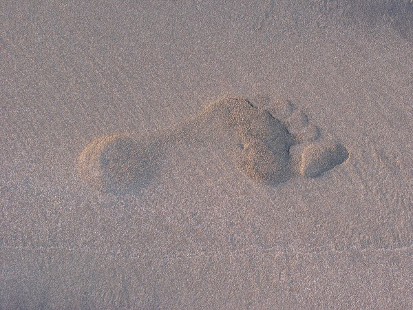 footprint on sand: footprint on sand