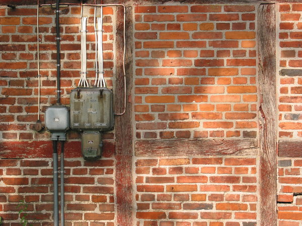 old electric installation: From an old building on the countryside north of Ystad, Sweden.