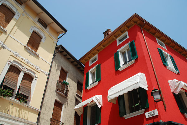 House Colors 2: Colorful houses, Italy.