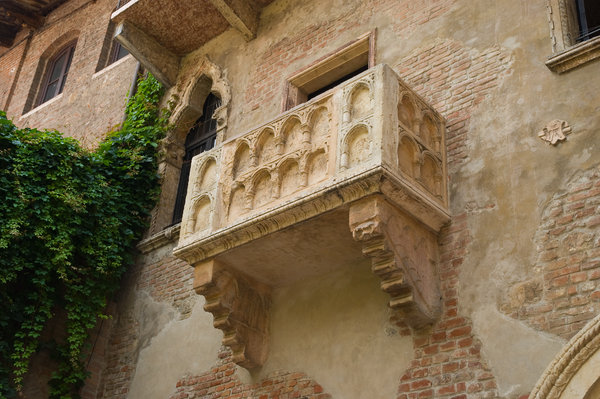 The Balcony: The most famous balcony, Juliet's balcony in Verona, Italy.