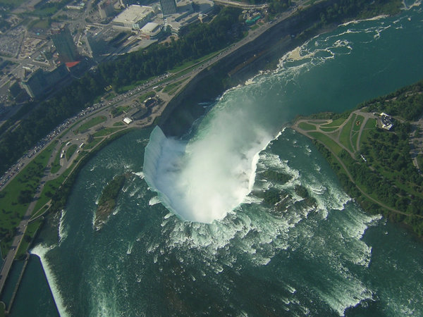 Niagara Falls from the air: Took these photographs from a helicopter.