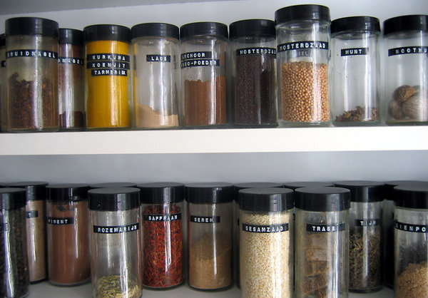 herbs & spices: herbs & spices in my dad's kitchen