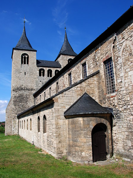 Romanesque church St. Cyriakus: Frose is a village and a former municipality in the district of Salzlandkreis, in Saxony-Anhalt, Germany. Since 15 July 2009, it is part of the town Seeland.