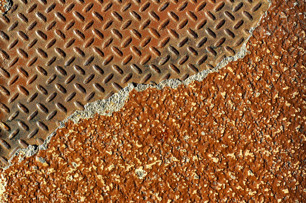 Diamond plate textures: Diamond plate textures found on the sidewalks of San Francisco.