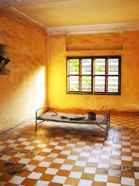 Khmer Rouge Torture Cell: khmer Rouge torture cell in Cambodia.