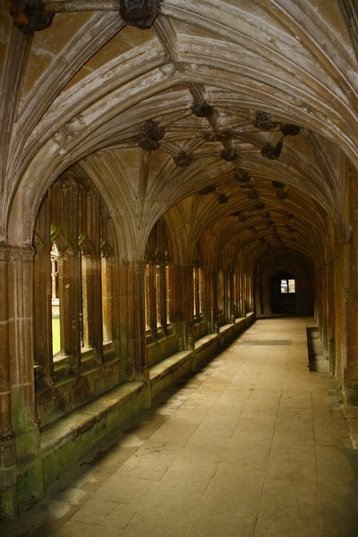 Abbey cloisters: Cloisters in an old abbey.