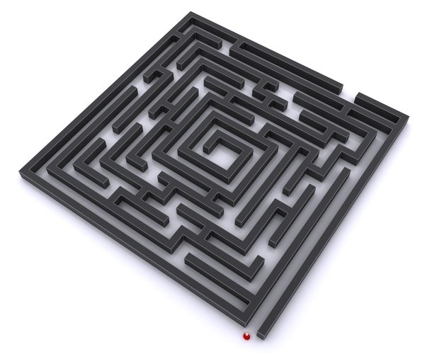 Labyrinth: Some abstract pictures of a Labyrinth on a white, light reflective background