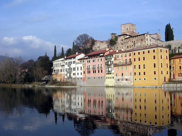 Reflections 1: Taken on  the banks of the river running through Bassano del Grappa in Italy.