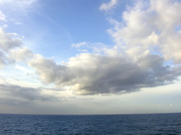 Blue Sky & Sea: Taken while on the ferry from France to UK.