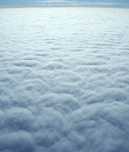 Fluffy Sea of Clouds 2: The view from above the clouds on a flight to the UK.