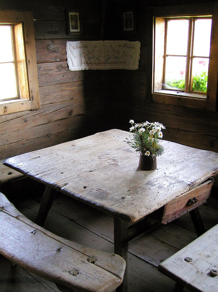 old furniture: farmmuseum wagrain, ausria