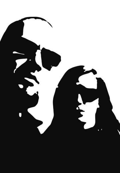 the shades - portait: graphics made of a selfportrait