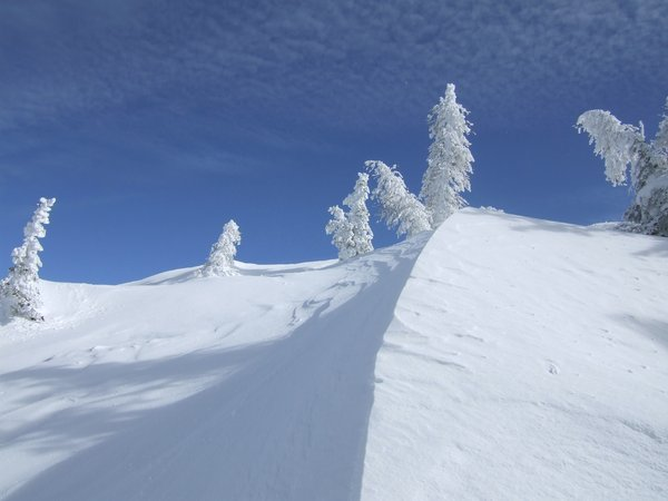 "snowdunes: snowdunes at ""griessenkar-mountain"" in wagrain, austria"
