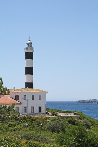 lighthouse: lighthouse in porto colom - mallorca