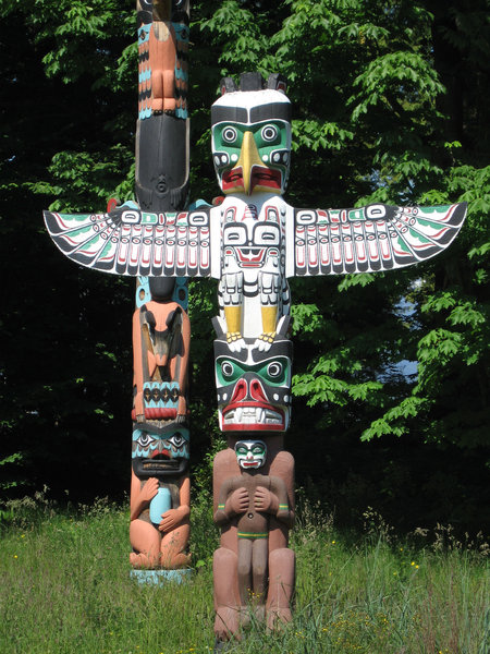 Totem poles: Totems at Stanley Park, Vancouver