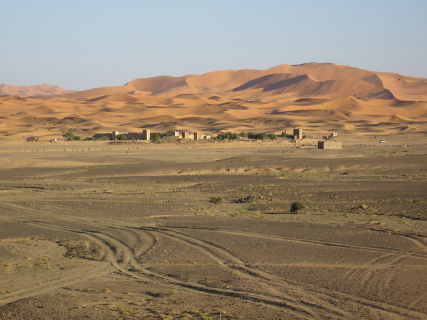 Sahara Dunes: The start of the Sahara, in Morocco
