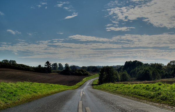 Country road HDR: Country road in HDR using 3 photos
