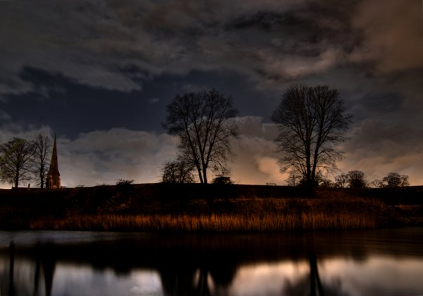 Spooky - HDR: Nightphotography. The pictures were taken at 01.00 using about 8 sec. for the 0-level-picture.