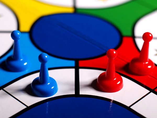 Parcheesi: we all know parcheesi and that is why it does make good conceptual images.