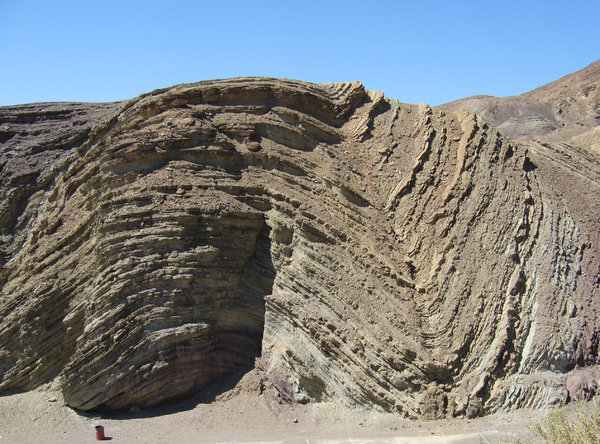 wavy rock: rock face in California