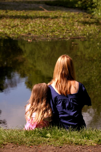 Looking Together (again): Mother and daughter share a moment by the water
