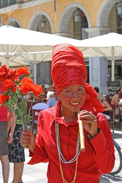 cuban lady: shot taken in palma - mallorca ;-)